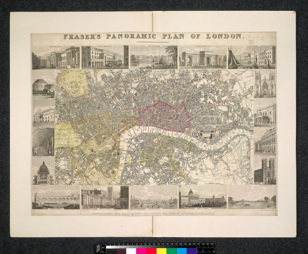 James Fraser's 1831 'Panoramic Plan' of London