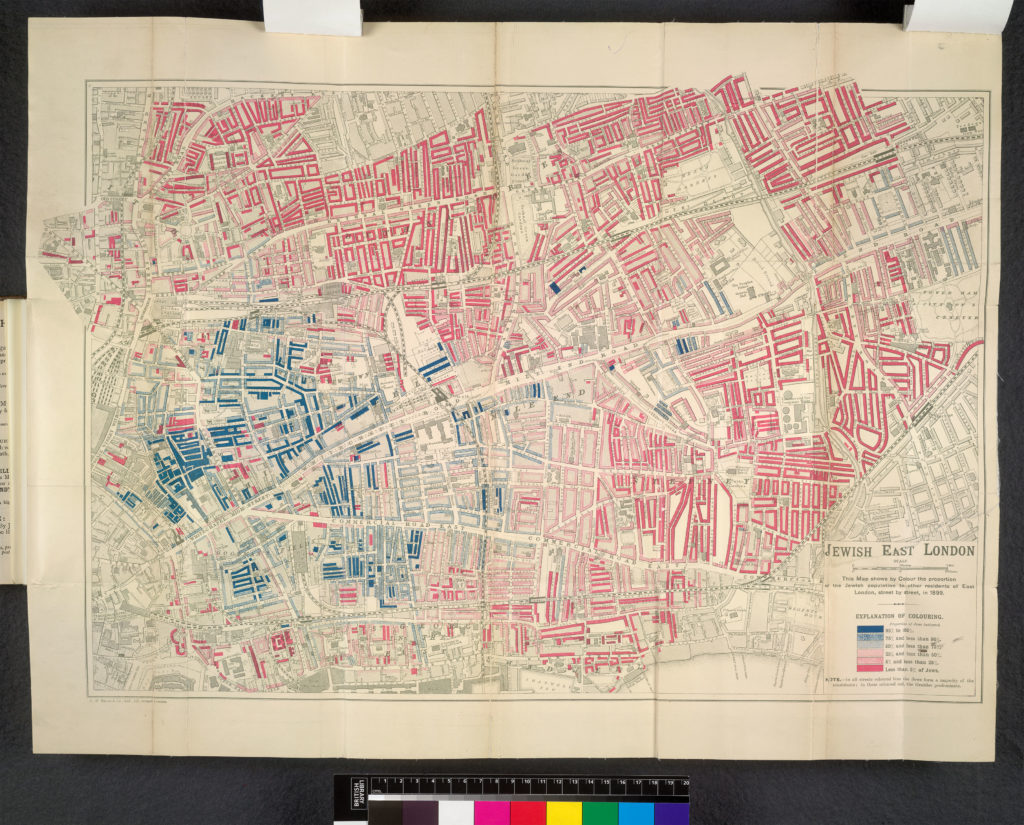"George E. Arkell's 1899 map ""Jewish East London"""