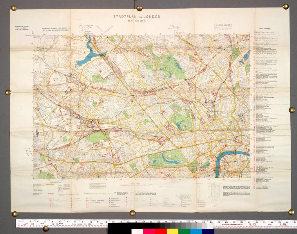 Generalstab des Heeres, Stadtplan von London Mappe 8, 2nd ed. 1941