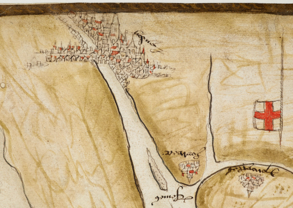Anon. 1538 [London from a map showing proposals for Anne of Cleves' voyage to England]