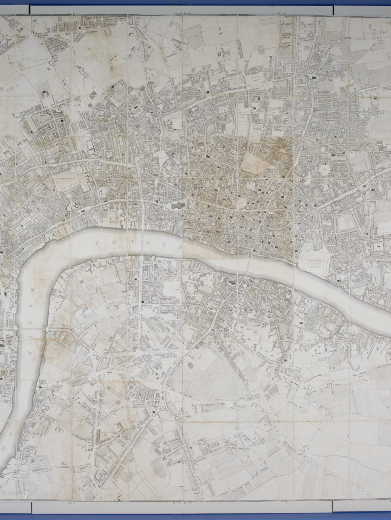 """Richard Horwood's 1799 plan """"shewing every house"""""""