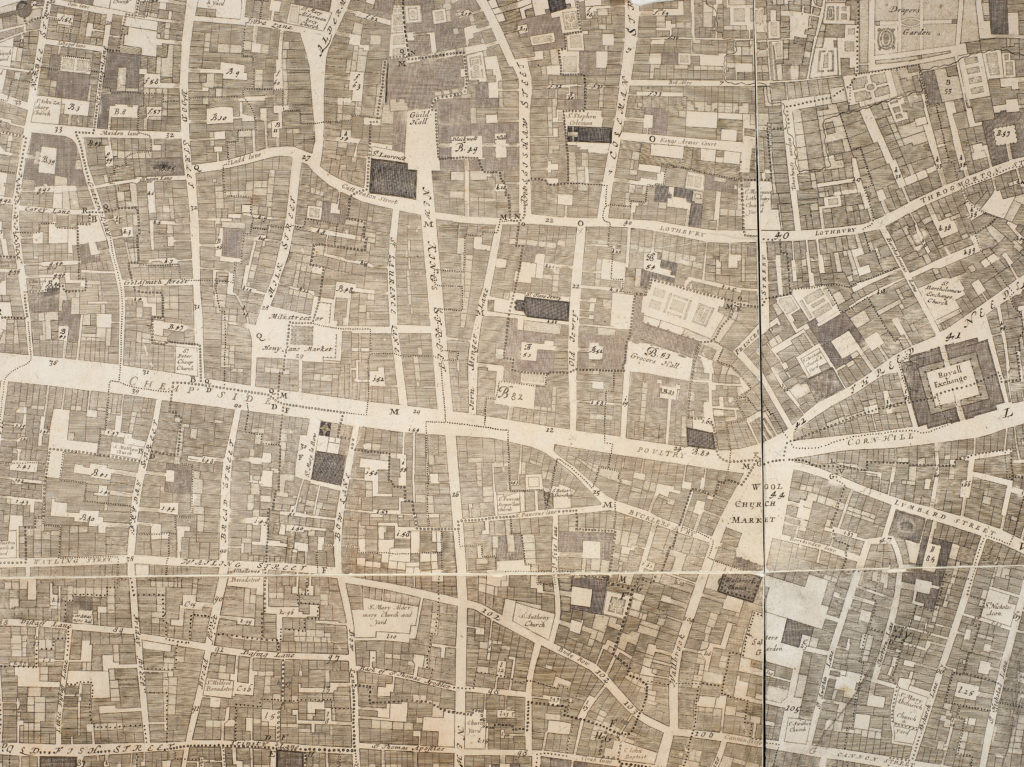 John Ogilby & William Morgan's 1676 map of the City of London