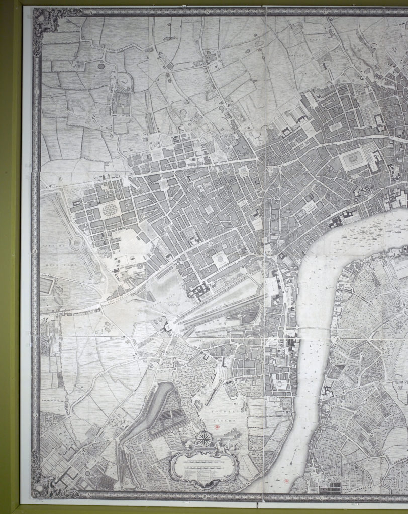 John Rocque's 1746 plan of the Cities of London & Westminster and the Borough of Southwark