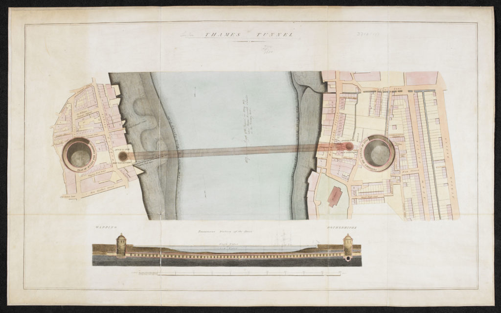 Anon. c.1827 Thames Tunnel linking Wapping & Rotherhithe